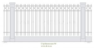 Кованый забор, артикул З-007