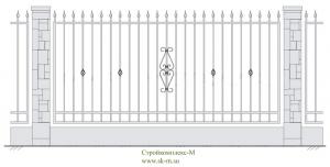 Кованый забор, артикул З-009