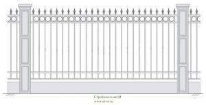 Кованый забор, артикул З-005