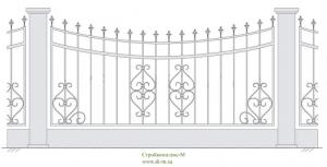 Кованый забор, артикул З-010