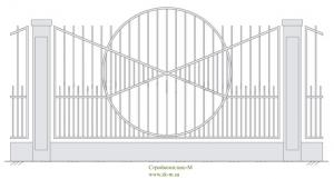 Кованый забор, артикул З-014