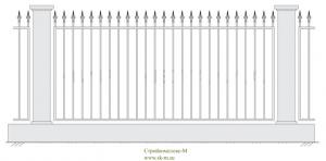 Кованый забор, артикул З-003
