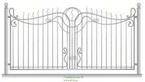 Кованый забор, артикул З-051