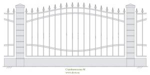 Кованый забор, артикул З-008