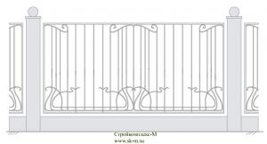 Кованый забор, артикул З-026