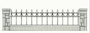 Кованый забор - З 035
